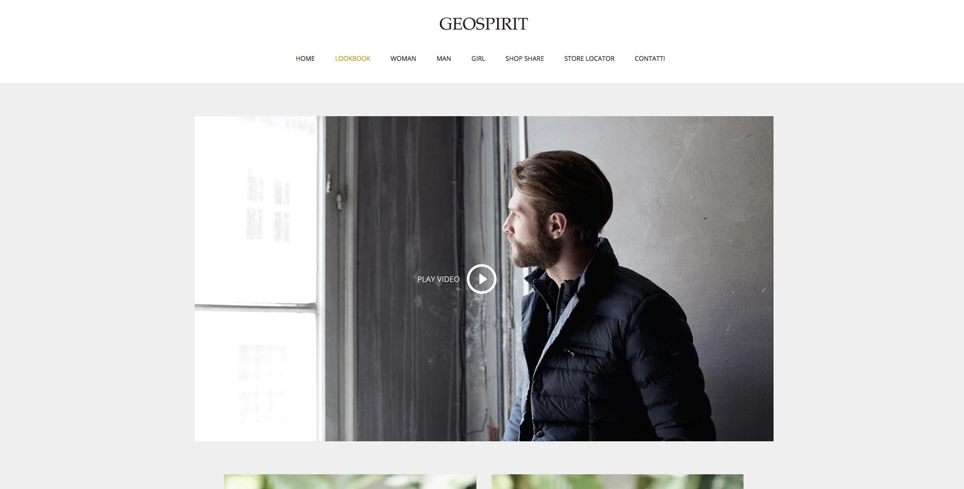 geospirit sito web lookbook