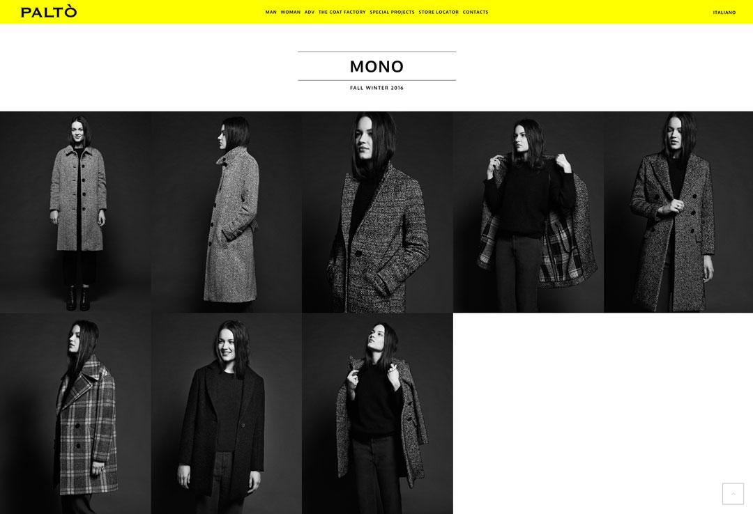 paltò cappotto sito web lookbook